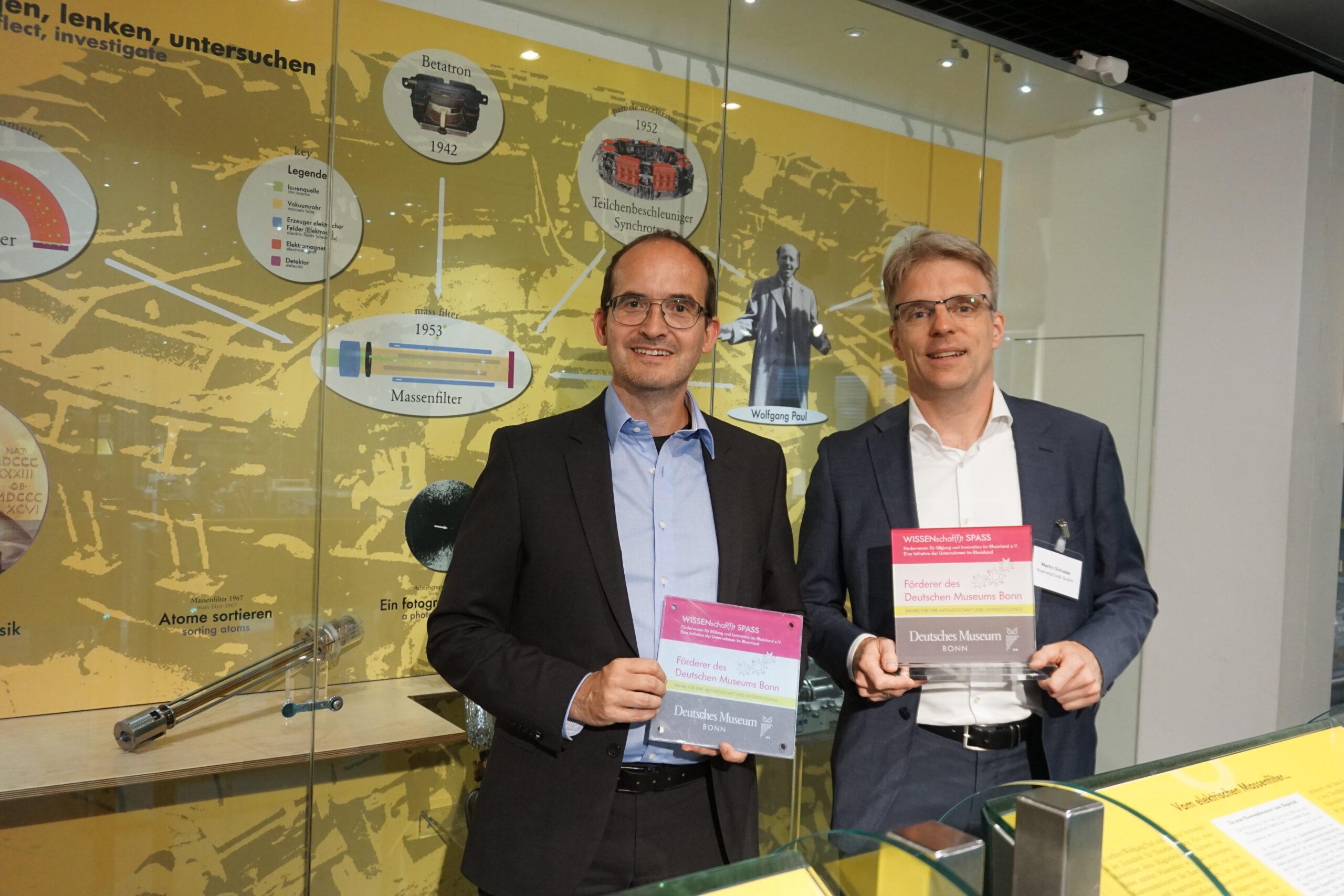 BusinessCode fördert MINT in der Region Bonn/Rhein-Sieg - Martin Bernemann und Martin Schulze im Deutschen Museum Bonn